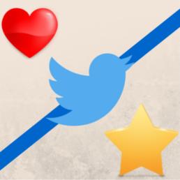 Fav o Me gusta, Twitter